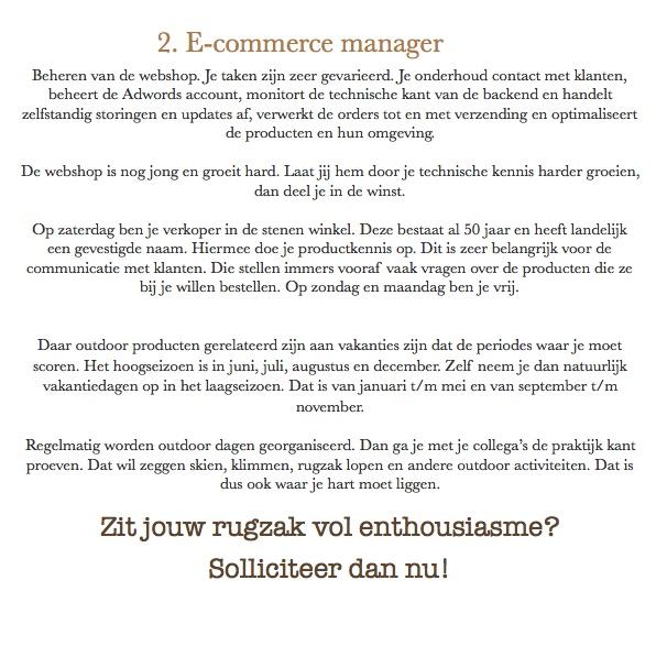 E-commerce-medewerker