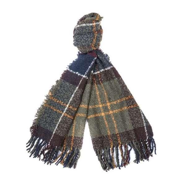 Tartan boucle scarf