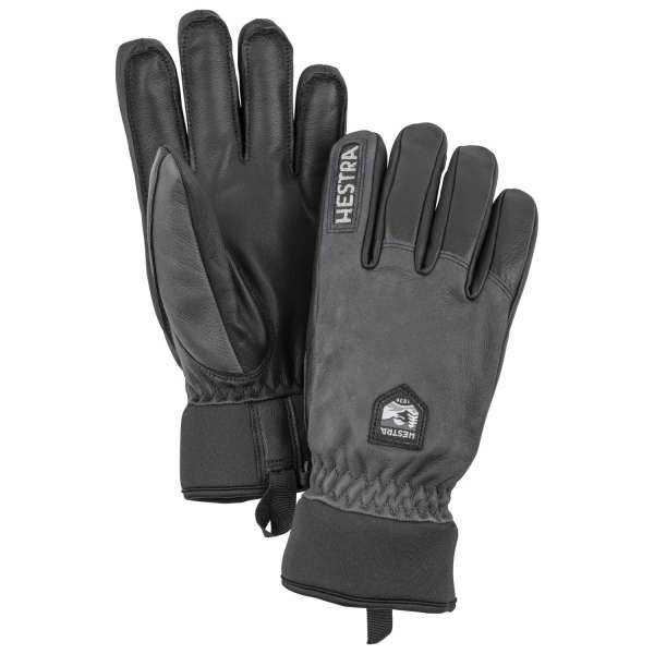 Army leather wool terry 5 finger