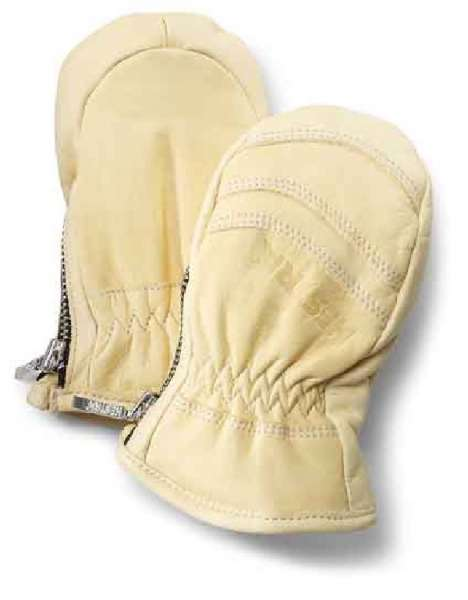 Baby zip leather mitt