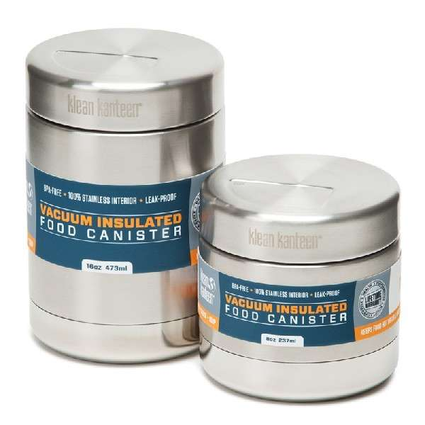 Food canister vacuum insulated