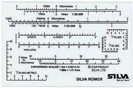 Silva kaartmeter romer 090mm